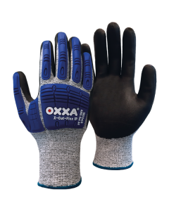 Nailon töökindad lateks kattega OXXA X-Grip-Lite 51-025, kollased, suurus 11/XXL