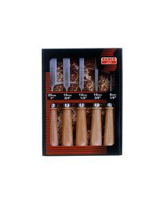 Peitlite kmpl puidust käepidemega 5 osa 6,10,12,18,25mm