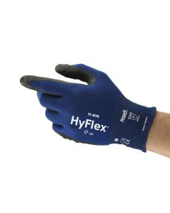 Safety gloves Ansell HyFlex 11-816, size 9. Ultra thin Nylon, spandex. Foam nitrile palm dipped.