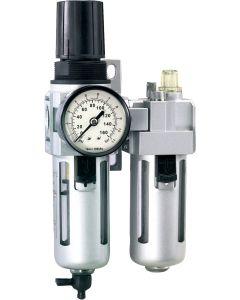 "Õhufilter+regulaator+õhuõlitaja 0,5-10 bar 1/2"" max 3200 l/min Irimo"