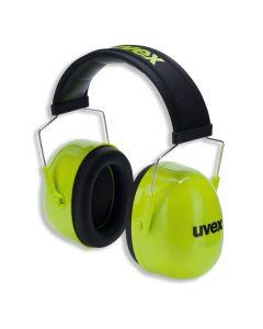 Earmuffs Uvex K4 SNR: 35dB, Yellow Hi-Viz Soft head band