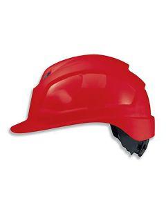 Kiiver Uvex Pheos IES, punane, reguleeritava ventilatsiooniga, 55-61 cm. kaitseprillide adapter, pingutus rattaga